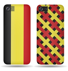 Rear covers smartphone with flags of Belgium vector image vector image