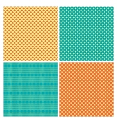 Set of 4 abstract geometry ornamental seamless vector image