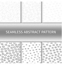 abstract gray seamless patterns set vector image