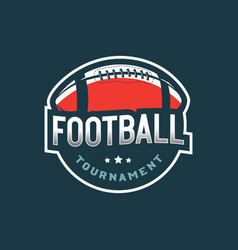 American football logo sport emblem badge vector