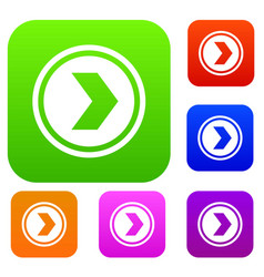 arrow to right in circle set collection vector image