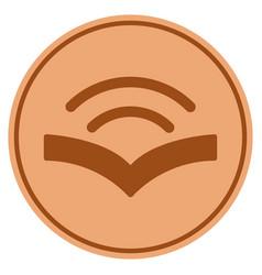Audiobook bronze coin vector