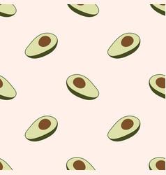 Avocado seamless pattern vector