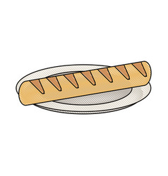 baguette french bread vector image vector image