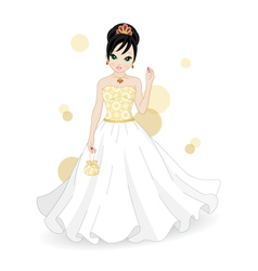 beautiful bride vector image