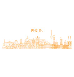 berlin skyline line art 3 vector image