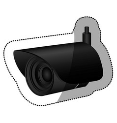 Black exterior video camera icon vector