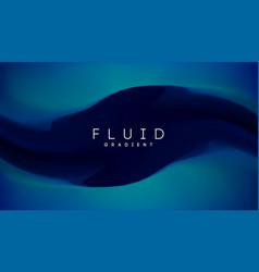 blue gradient fluid background fluid colors 3d vector image
