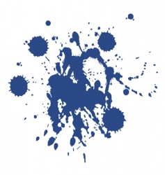 blue paint blot vector image