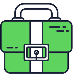 briefcase icon case for work business bag vector image