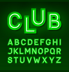 broadway night club vintage style neon font vector image
