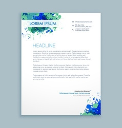 Business letterhead abstract design vector