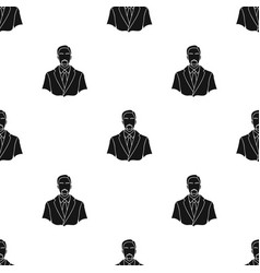 Businessman icon in black style isolated on white vector