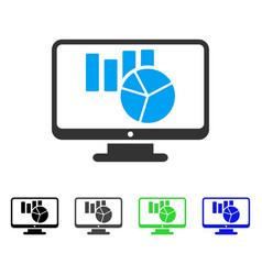 Charts monitoring flat icon vector