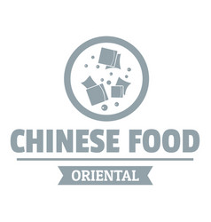 Chinese food logo simple gray style vector