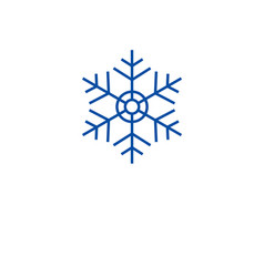 christmas snowflake line icon concept christmas vector image