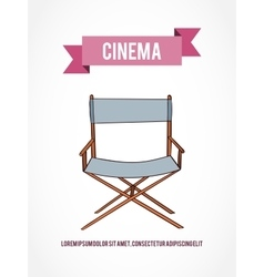 Cinema invitation card vector image vector image