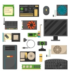 Computer details vector image
