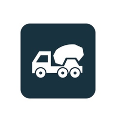concrete mixer icon Rounded squares button vector image