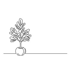 Flower Pot Drawing Vector Images Over 8 400