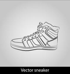 Contour shoes cartoon sneaker vector
