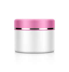 Cosmetic jar vector