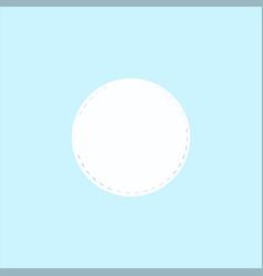 Cotton pad vector