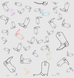 cowboy boots seamless pattern graphic vector image