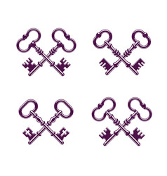 Crossed keys protected secret electronic data vector