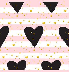 cute brush heart paint seamless pattern vector image