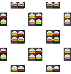 Different sushi pattern seamless vector