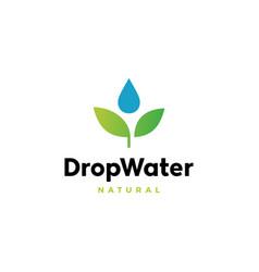Drop water leaf logo icon vector