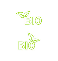 Ecology bio icon vector