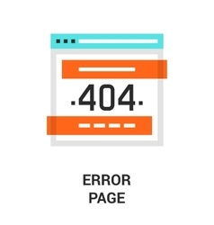 error page icon vector image