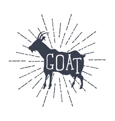 farm animals icons silhouette of goat vector image