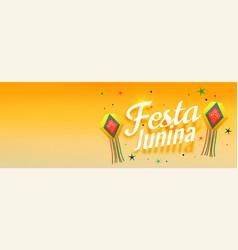 Festa junina awesome celebration banner design vector