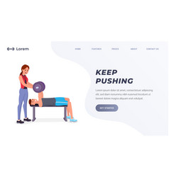 fitness or sport landing page vector image