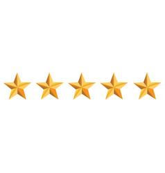 five golden stars vector image