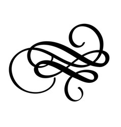 Flourish swirl ornate decoration for pointed pen vector
