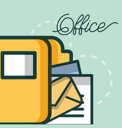 folder file document mail archive office vector image