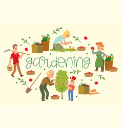 gardening banner equipment vector image