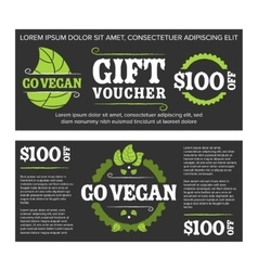 Gift voucher organic food vector