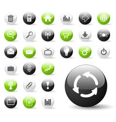 glossy web icon set vector image