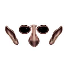 Goblin face parts photo-realistic vector