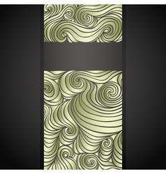 golden doodle label vector image