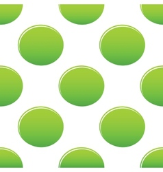 Green oval pattern vector image