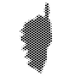 Halftone dotted corsica france island map vector