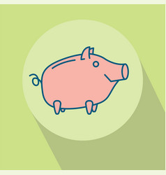 Happy piggy bank or money box vector