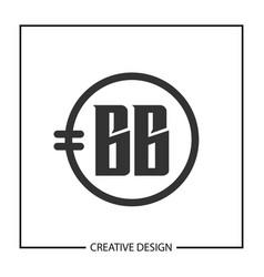 Initial letter bb logo template design vector