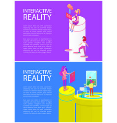 Interactive reality games set vector
